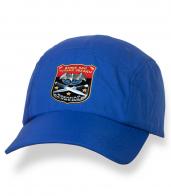 Надежная синяя бейсболка с термонаклейкой Военная Разведка