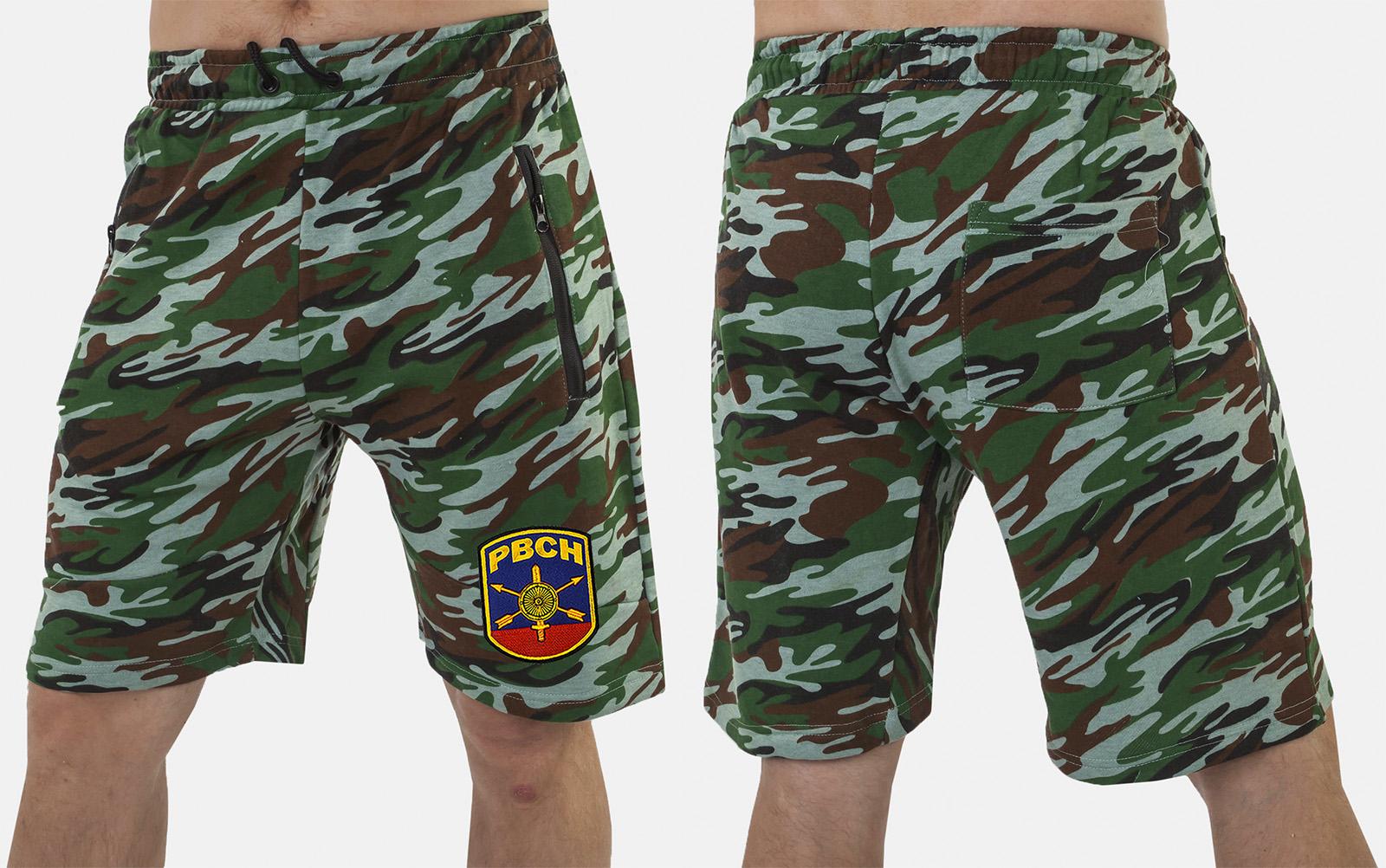 Надежные армейские шорты с карманами и нашивкой РВСН - купить в подарок