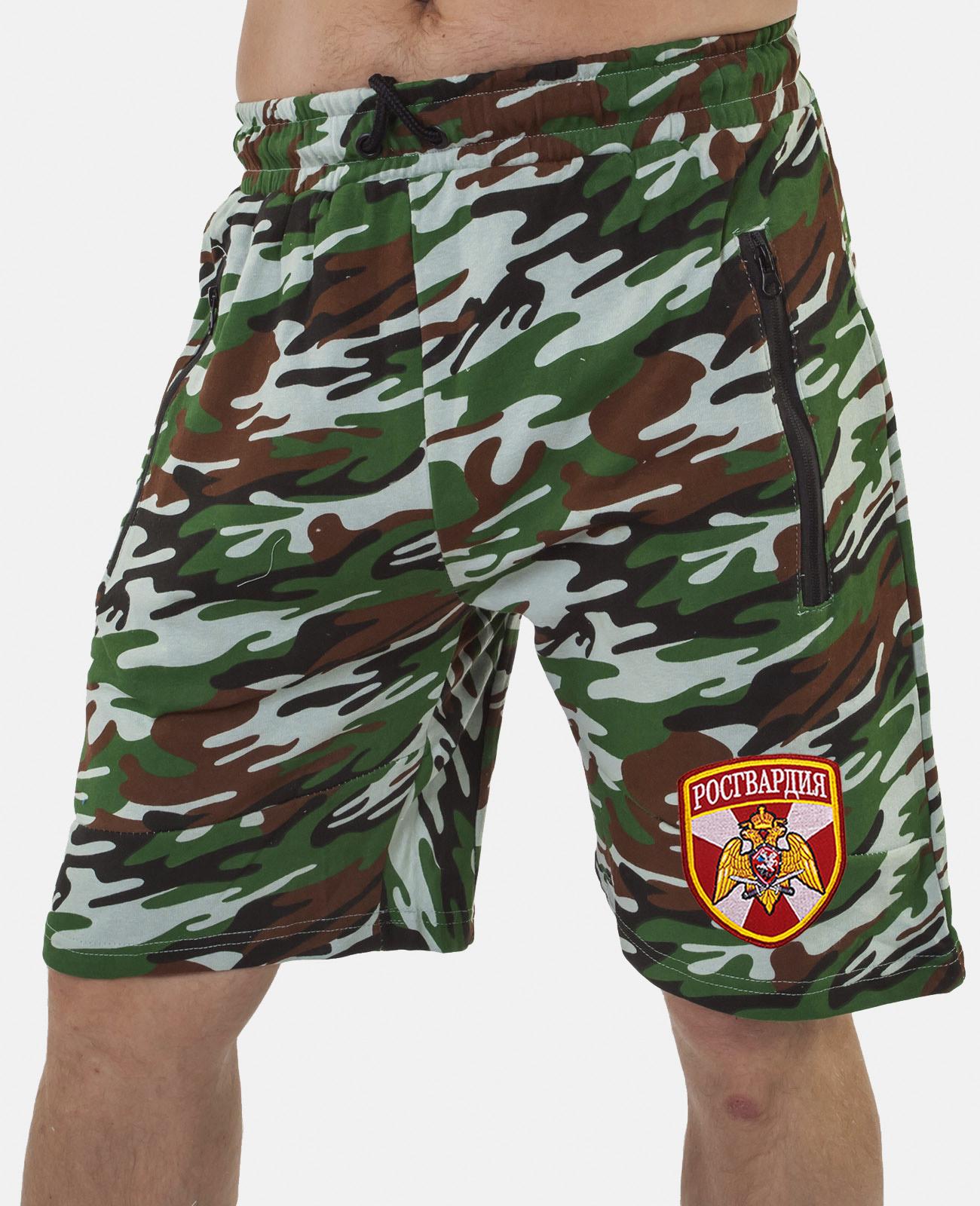 Купить надежные армейские шорты с нашивкой Росгвардия выгодно онлайн