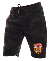 Надежные камуфляжные милитари шорты с нашивкой Росгвардия