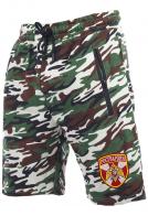 Надежные камуфляжные шорты с карманами и нашивкой Росгвардия