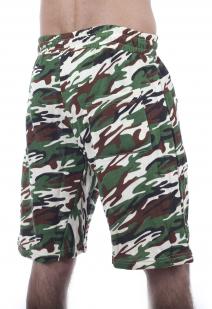 Надежные камуфляжные шорты с карманами и нашивкой Росгвардия - заказать в подарок