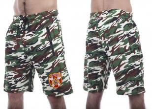 Надежные камуфляжные шорты с карманами и нашивкой Росгвардия - заказать выгодно