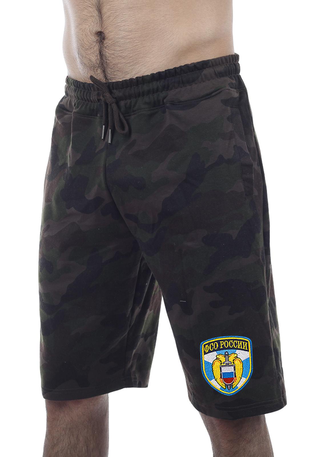 Купить надежные камуфляжные шорты с нашивкой ФСО по сниженной цене