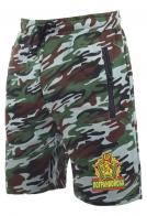 Надежные контрастные милитари-шорты с нашивкой Погранвойска