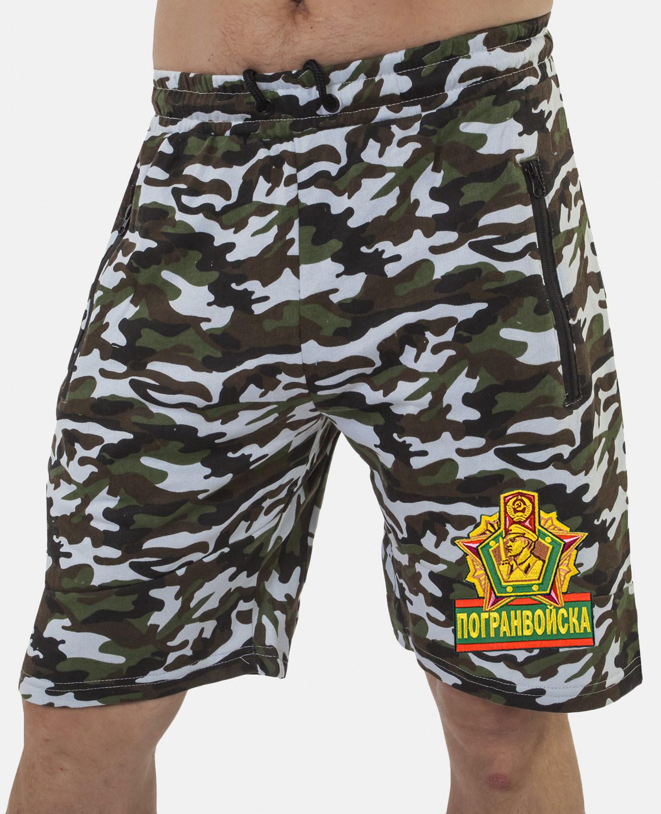 Купить надежные милитари шорты с нашивкой Погранвойска в подарок пограничнику