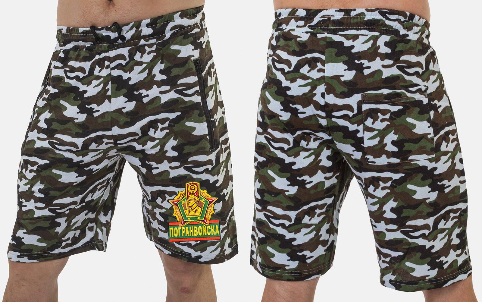Надежные милитари шорты с нашивкой Погранвойска - купить в Военпро