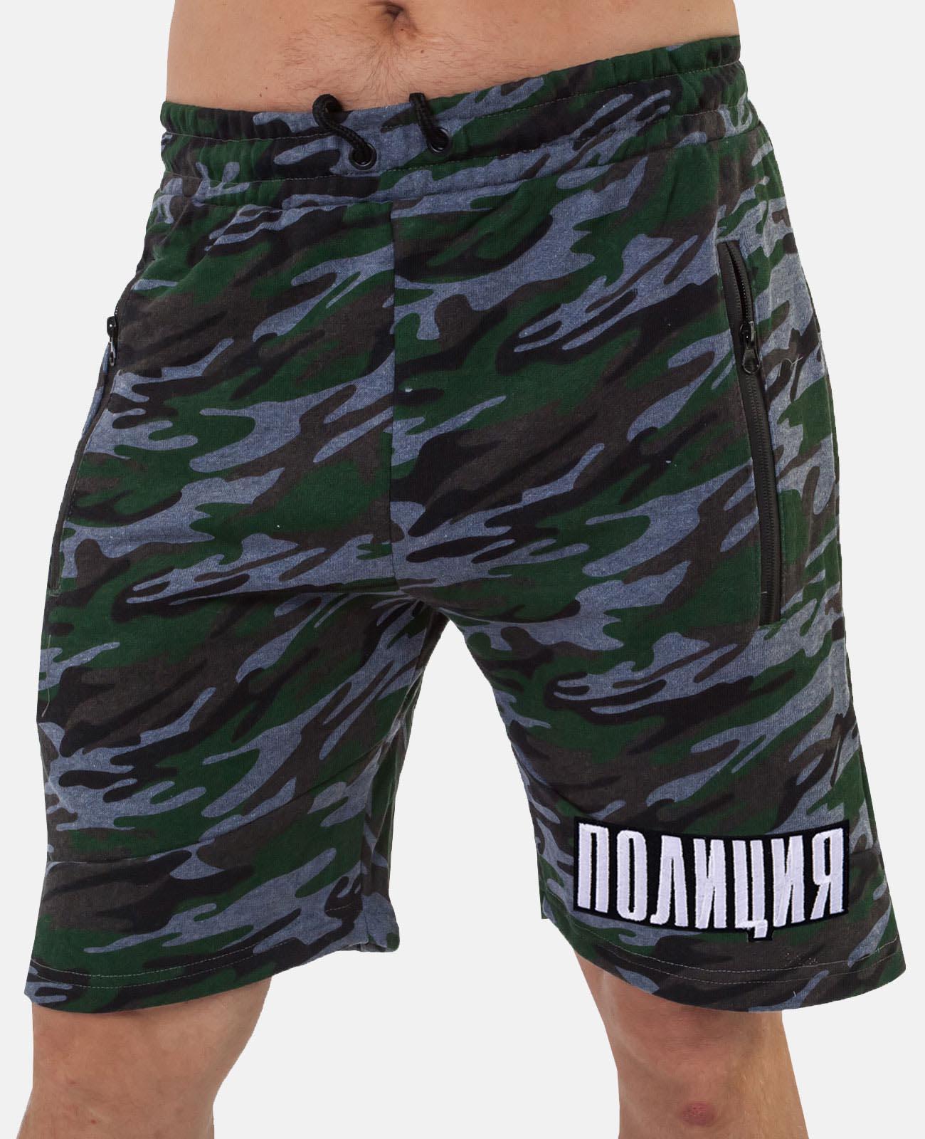 Купить надежные милитари шорты с нашивкой ПОЛИЦИЯ в подарок любимому