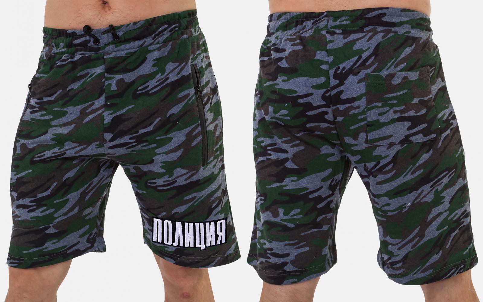 Надежные милитари шорты с нашивкой ПОЛИЦИЯ - заказать с доставкой