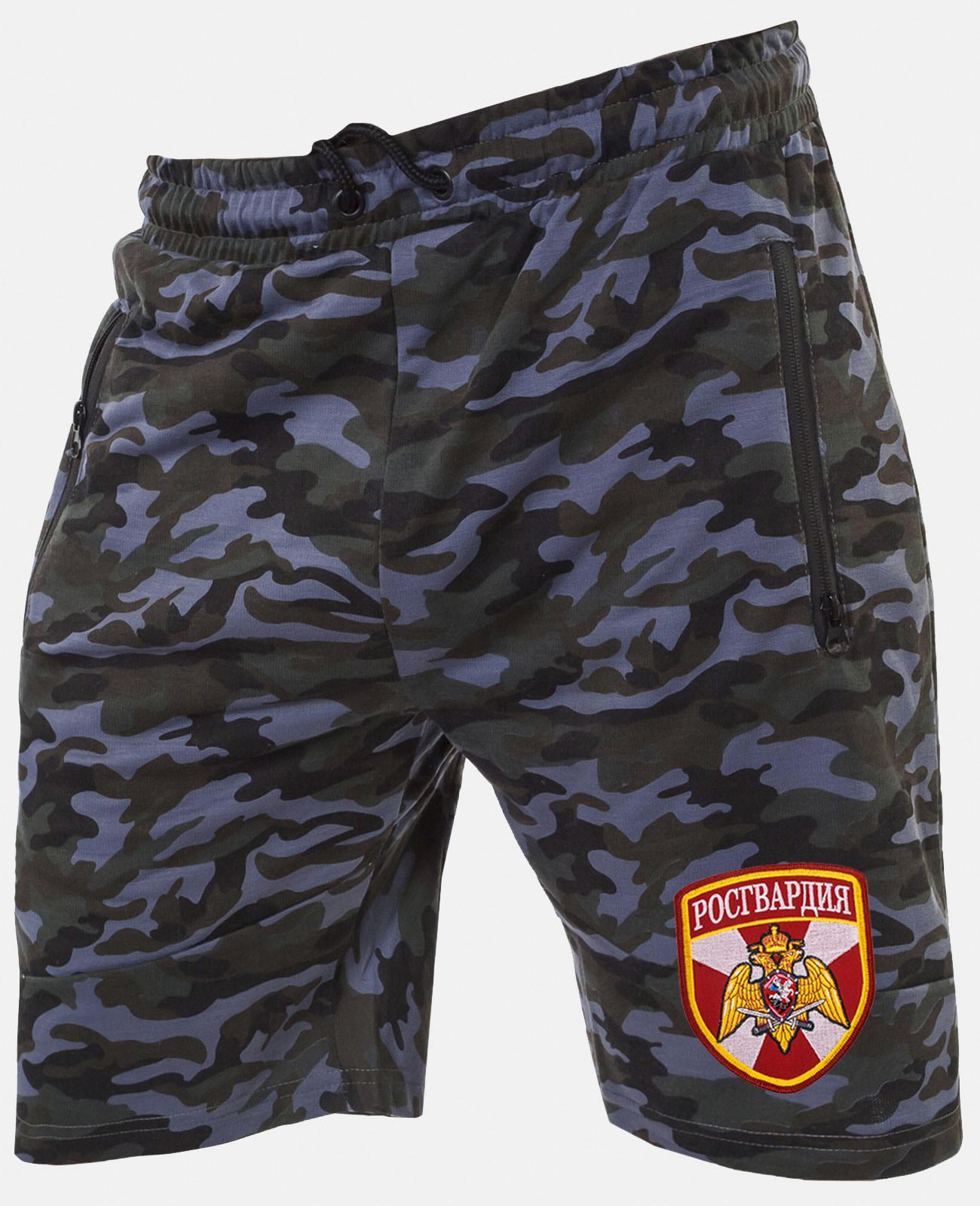 Надежные милитари шорты с нашивкой Росгвардия