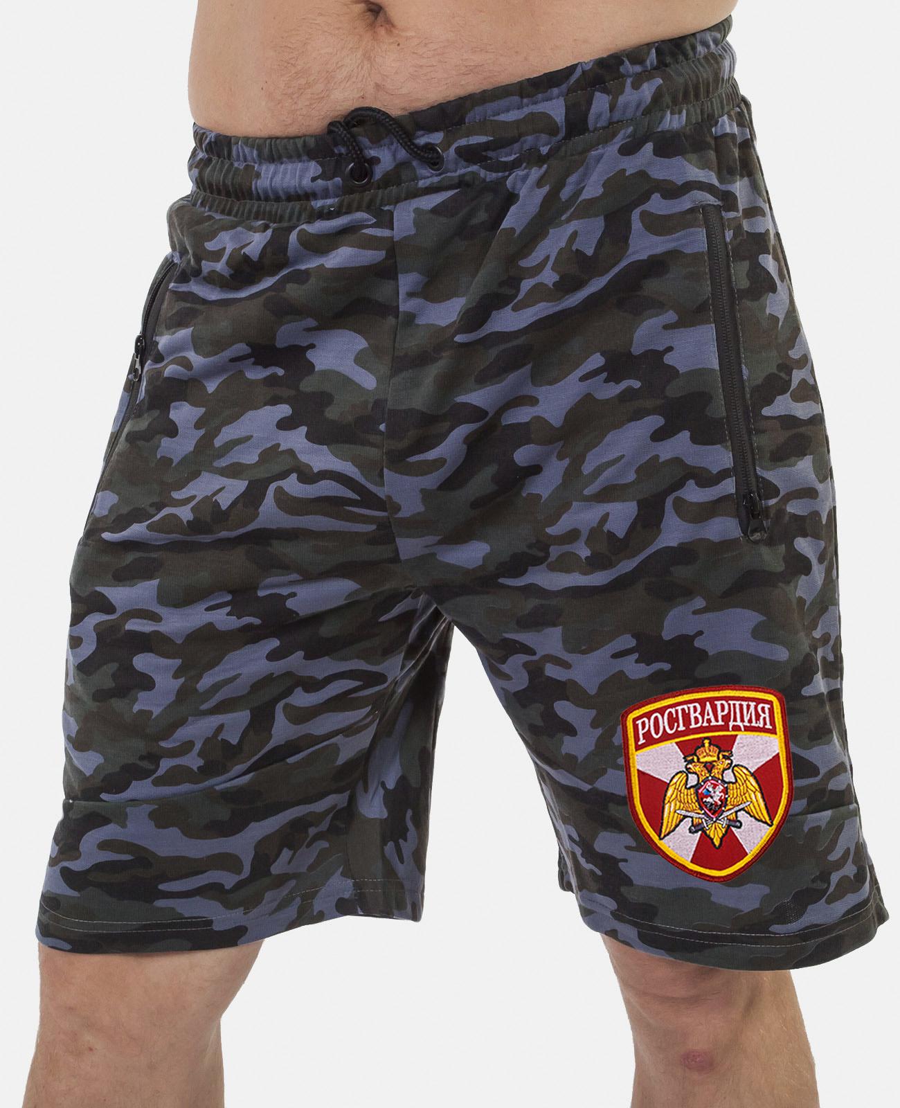 Купить надежные милитари шорты с нашивкой Росгвардия с доставкой выгодно