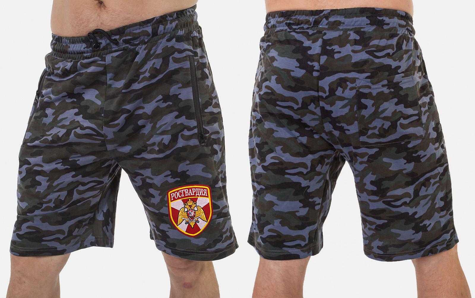 Надежные милитари шорты с нашивкой Росгвардия - купить в подарокр