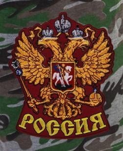 Надежные мужские шорты с карманами и нашивкой Россия