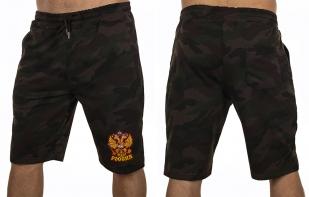 Надежные мужские шорты с нашивкой Россия - купить оптом