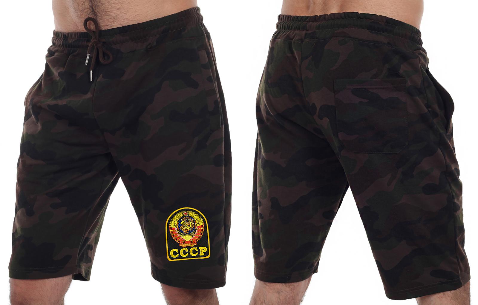 Надежные мужские шорты с нашивкой СССР - заказать с доставкой