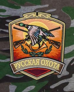 Надежные охотничьи шорты с карманами и нашивкой Русская Охота