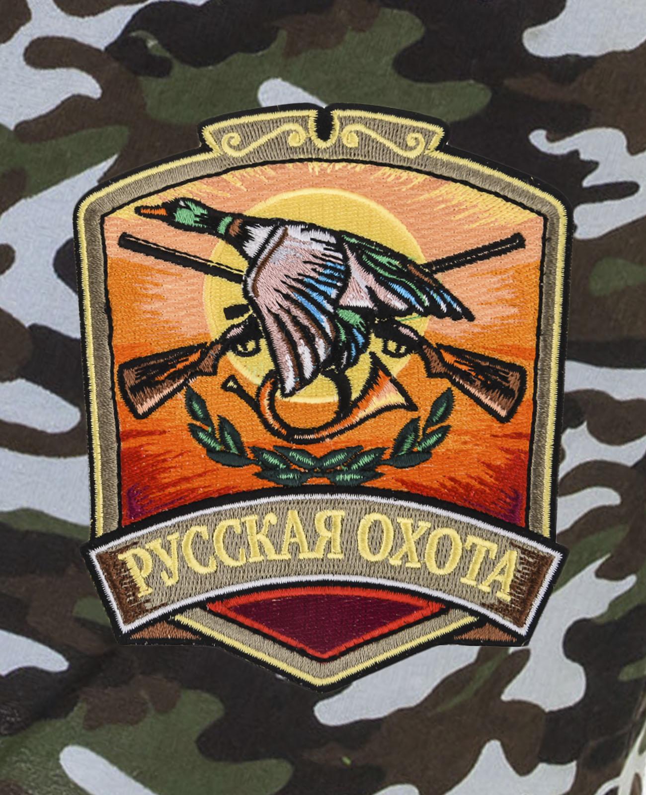 Надежные охотничьи шорты с нашивкой Русская Охота