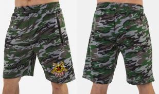 Надежные шорты удлиненного фасона с нашивкой РХБЗ - купить онлайн
