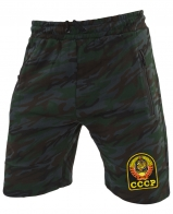 Надежные темно-зеленые шорты с нашивкой СССР