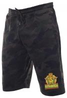 Надежные темные милитари-шорты с нашивкой Погранвойска