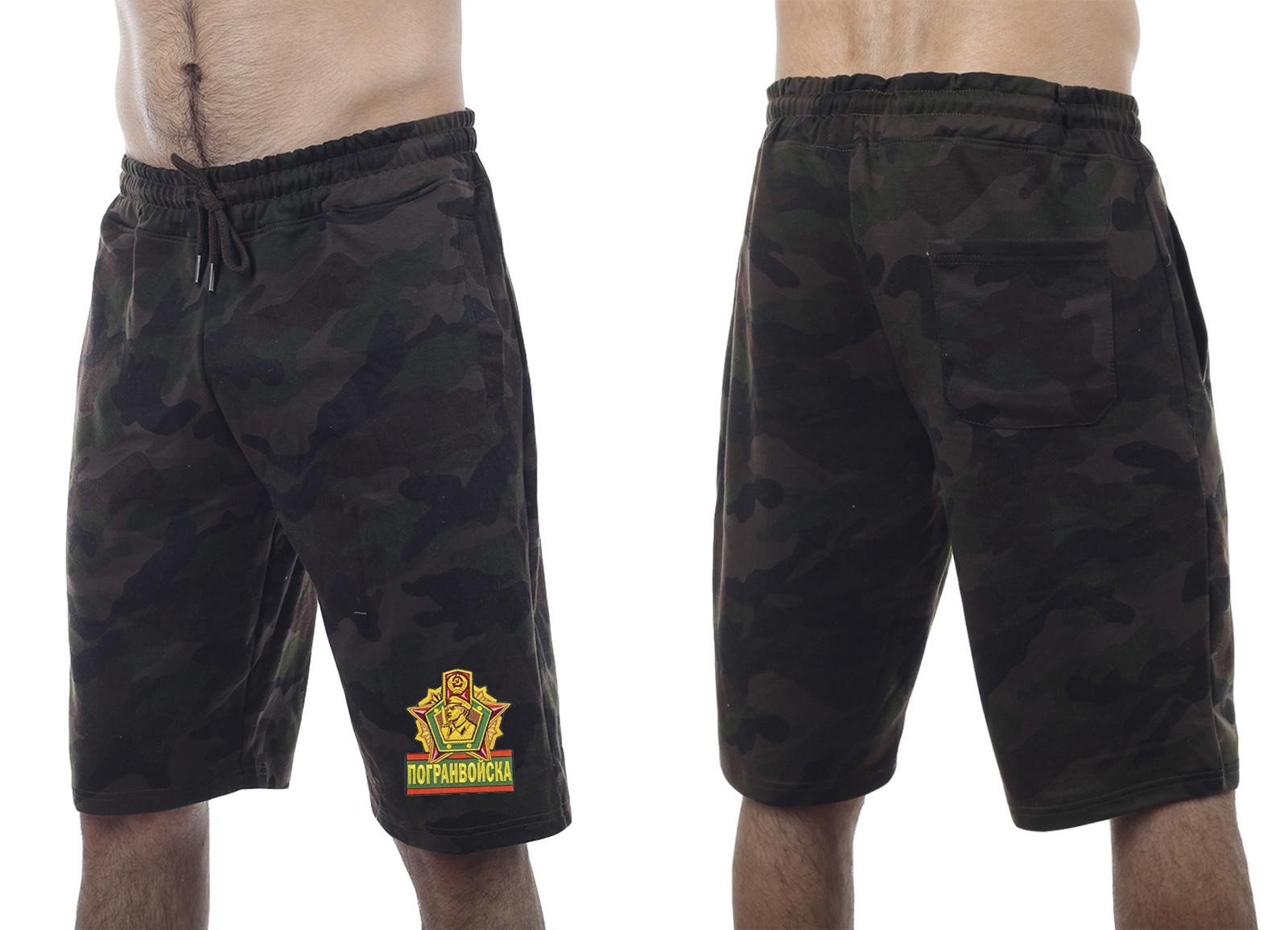 Надежные темные милитари-шорты с нашивкой Погранвойска - купить с доставкой