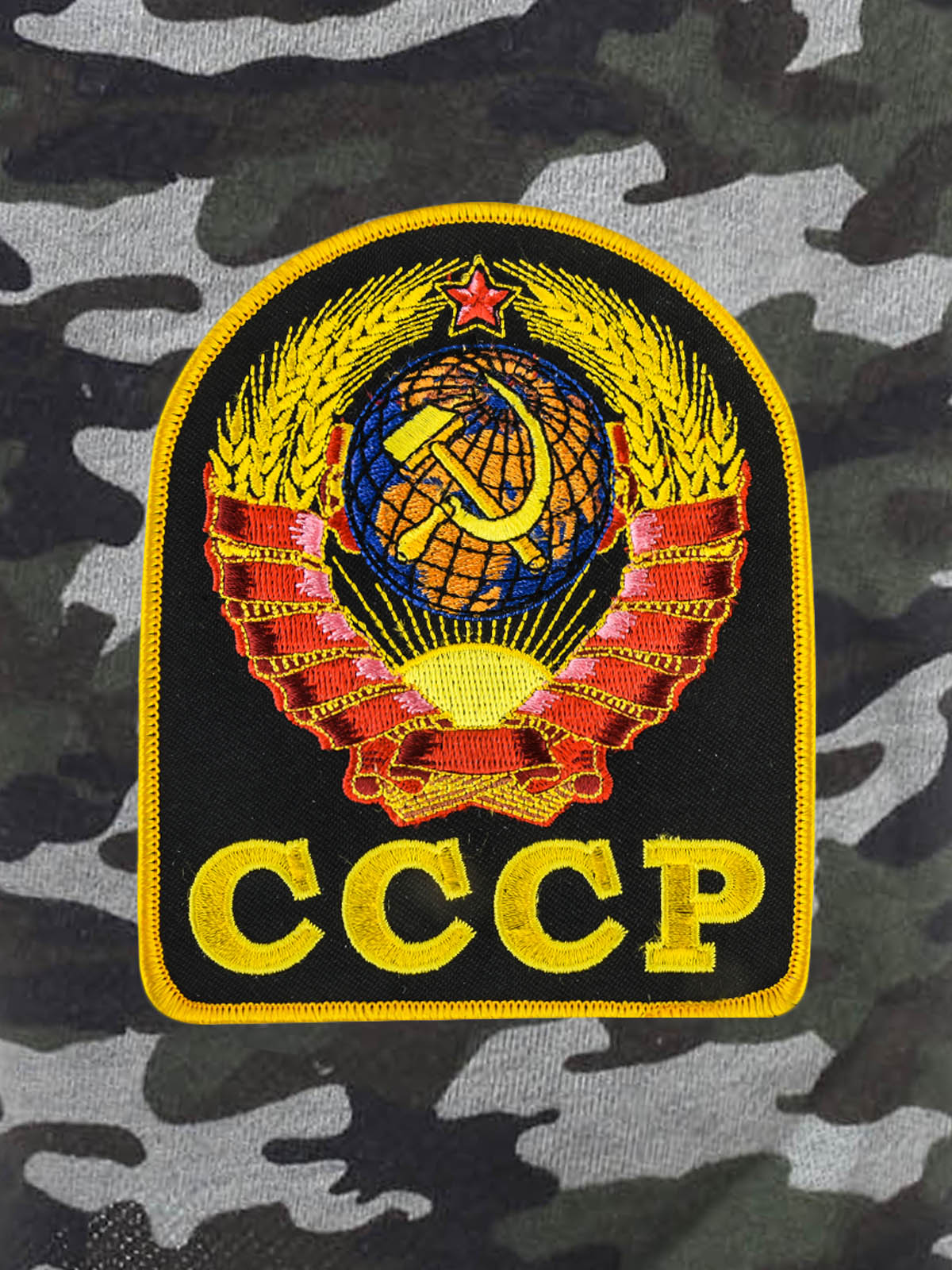 Надежные темные шорты с карманами и нашивкой СССР