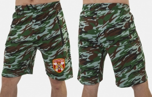 Надежные трикотажные шорты с нашивкой Росгвардия - купить в подарок