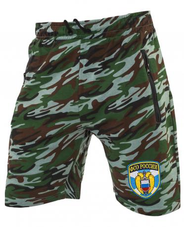 Надежные удлиненные шорты с нашивкой ФСО