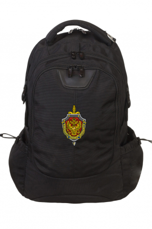Надежный черный рюкзак с нашивкой ФСБ