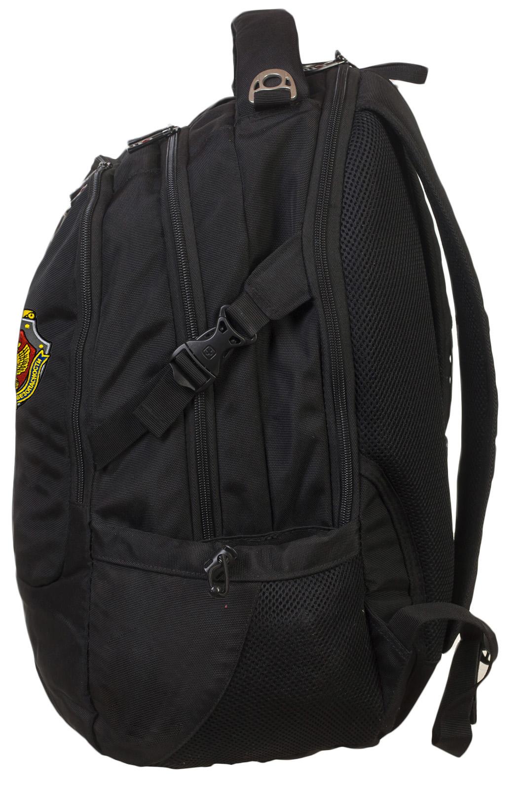 Надежный черный рюкзак с нашивкой ФСБ - купить в розницу