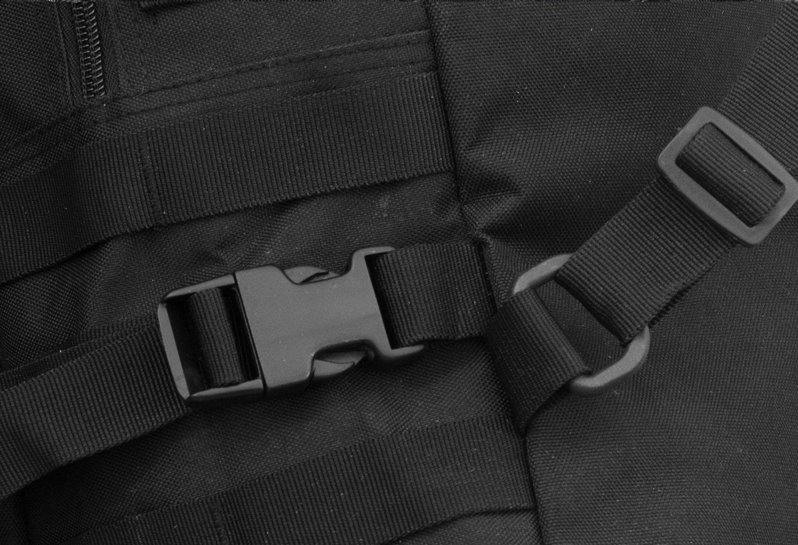 Надежный черный рюкзак с нашивкой РХБЗ - купить оптом