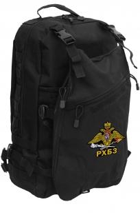 Надежный черный рюкзак с нашивкой РХБЗ - купить в розницу