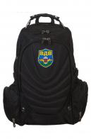Надежный черный рюкзак с шевроном ВДВ