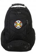 Надежный черный рюкзак с символикой РВиА