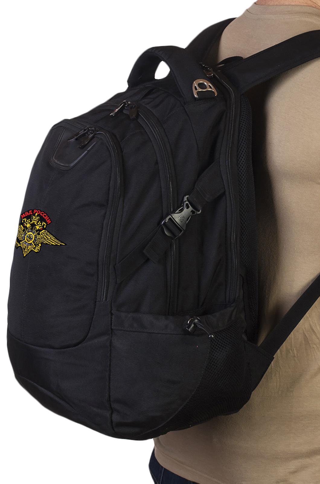 Надежный городской рюкзак с эмблемой МВД купить в подарок