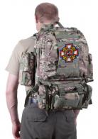 Надежный камуфляжный рюкзак с нашивкой Потомственный Казак
