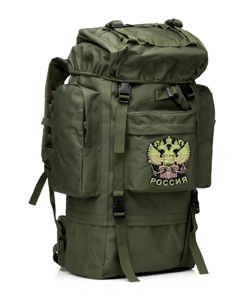 Надежный каркасный рюкзак с нашивкой Герб России - купить оптом