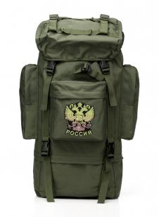 Надежный каркасный рюкзак с нашивкой Герб России - купить онлайн