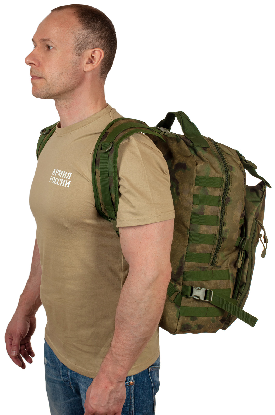 Надежный мужской рюкзак с нашивкой Герб России - купить в Военпро