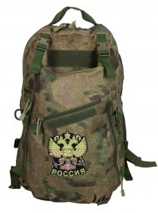 Надежный мужской рюкзак с нашивкой Герб России - купить по низкой цене