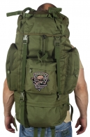 Надежный оливковый рюкзак с нашивкой Рыболовный Спецназ