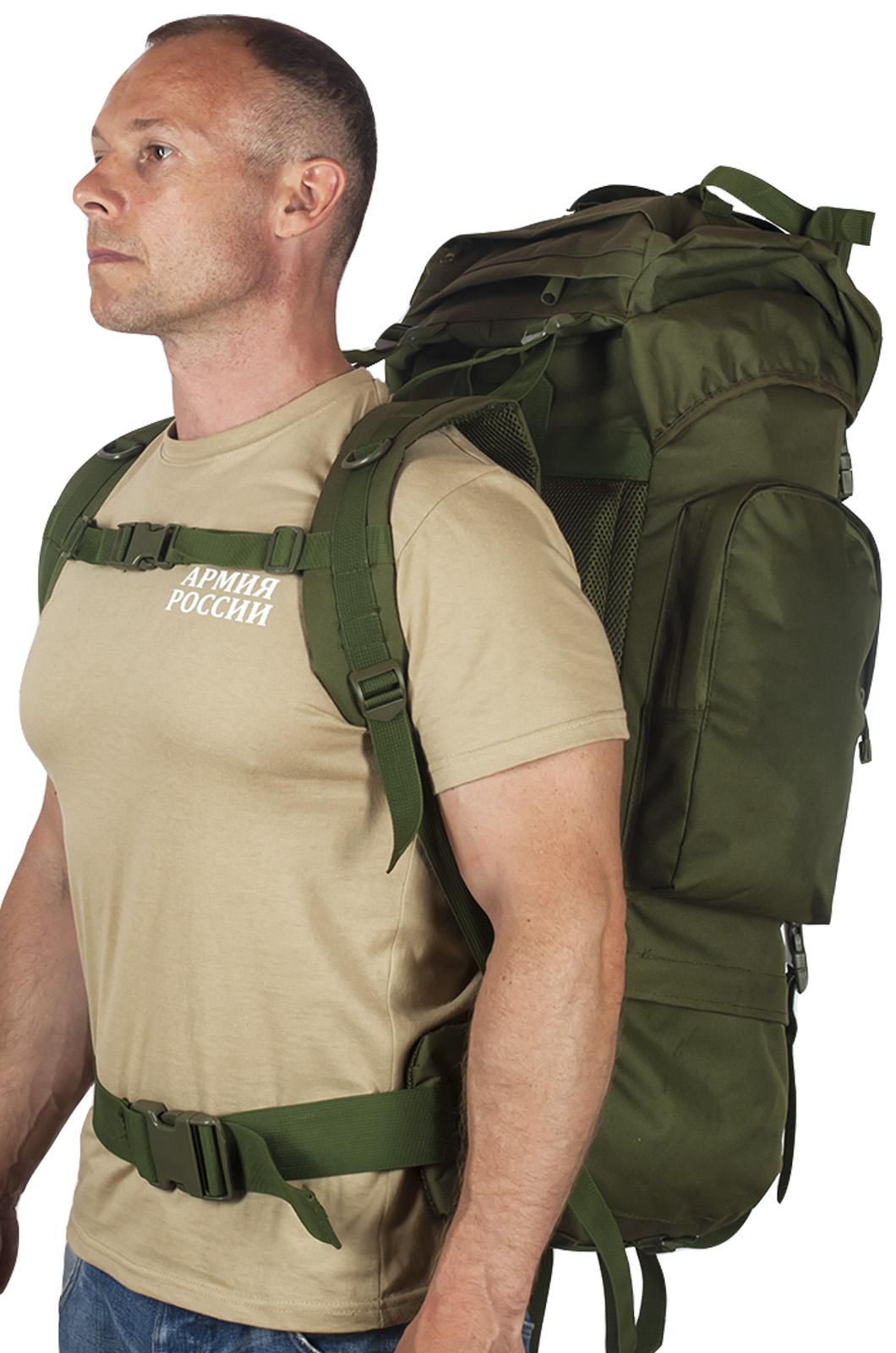 Надежный оливковый рюкзак с нашивкой Рыболовный Спецназ - заказать по низкой цене