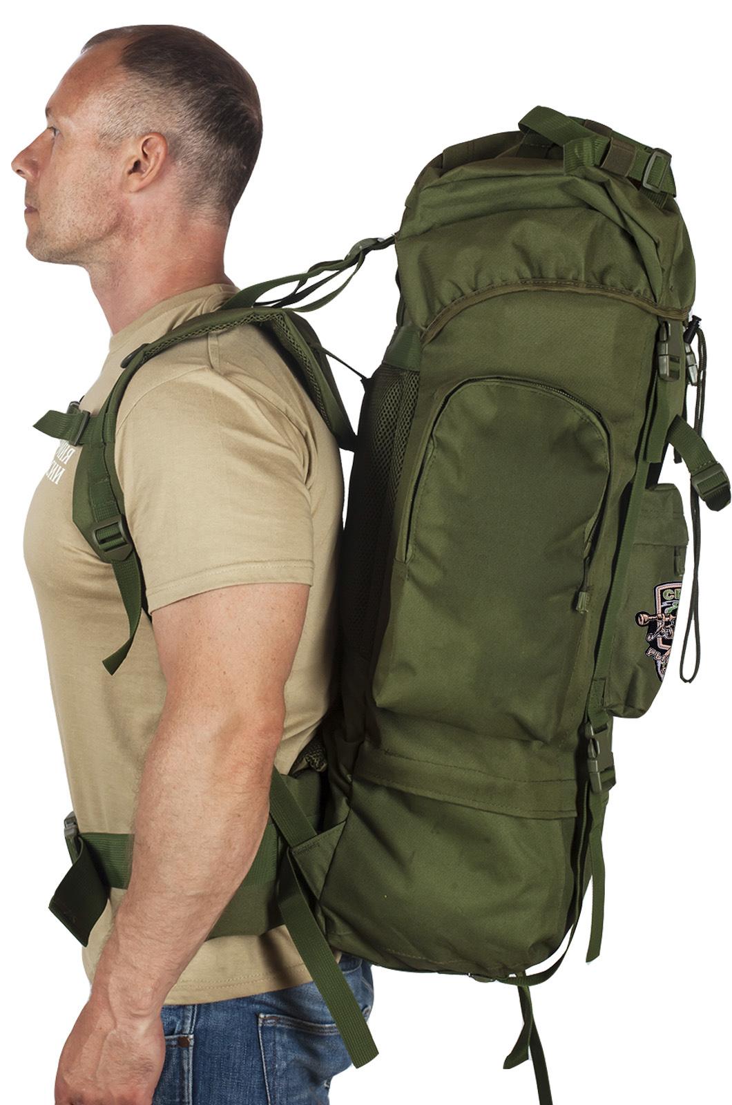 Надежный оливковый рюкзак с нашивкой Рыболовный Спецназ - заказать оптом