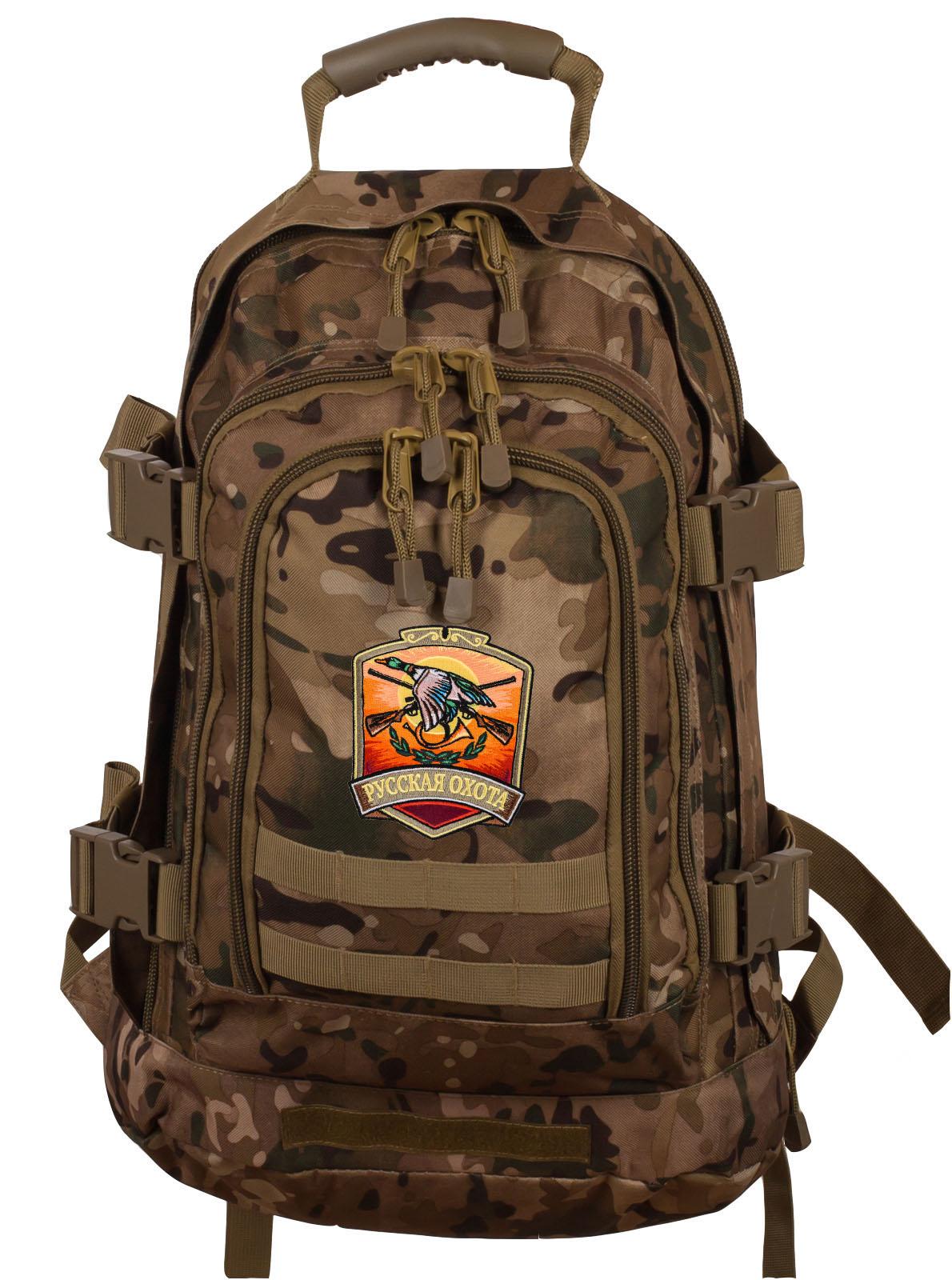 Надежный рейдовый рюкзак с нашивкой Русская Охота - заказать в подарок