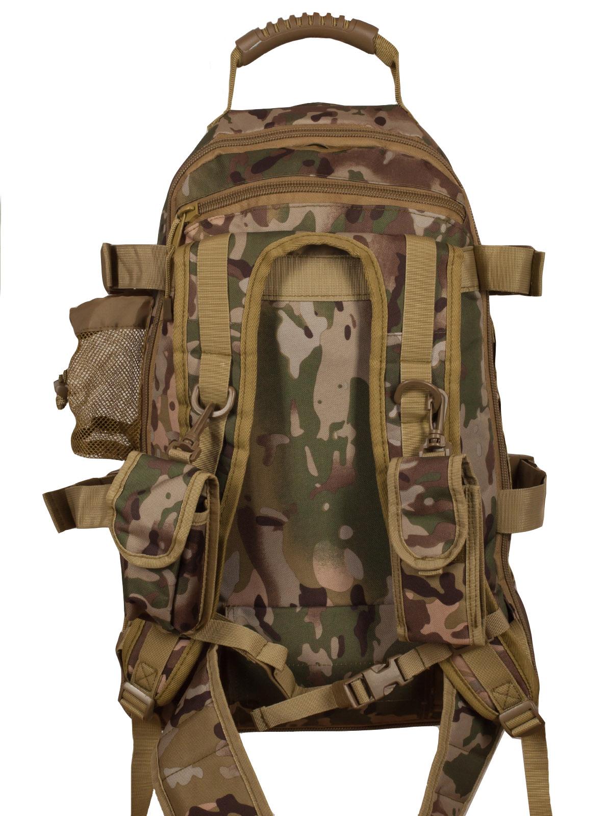 Надежный рейдовый рюкзак с нашивкой Русская Охота - заказать в Военпро