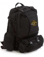 Надежный рюкзак с нашивкой РХБЗ черный