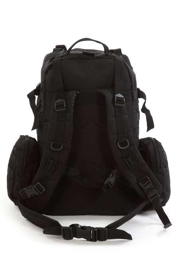 Надежный рюкзак с нашивкой РХБЗ черный купить оптом