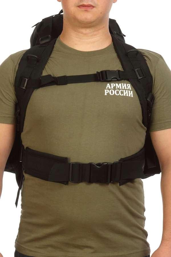 Надежный рюкзак с нашивкой РХБЗ черный купить с доставкой