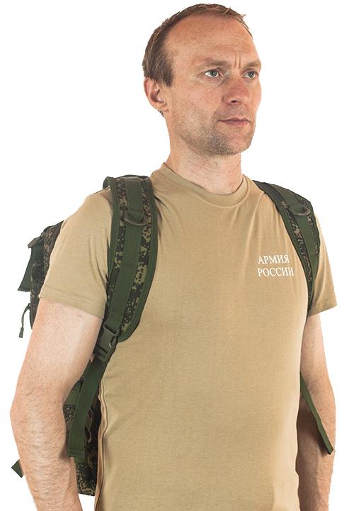 Надежный вместительный рюкзак с нашивкой Русская Охота - купить онлайн