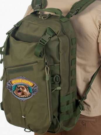 Надежный внушительный рюкзак с нашивкой Лучший Охотник